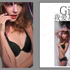 创意性感艺术写真精修单片创意相册设计蒙娜丽莎专业后期设计时尚相册制作
