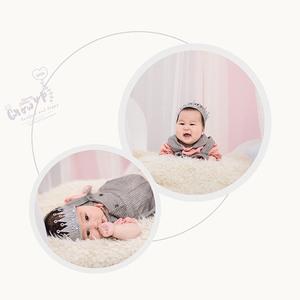 儿童照片相册设计宝宝百天照普通调修ps高端儿童照片处理