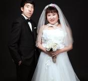 婚纱照原片与精修对比